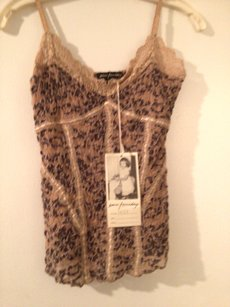 Ann Ferriday T Shirt Blouse Top Brown/Biege