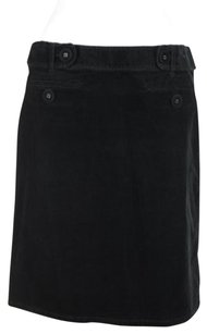 Ann Taylor Womens Corduroy Above Knee A Line Blend Skirt Black