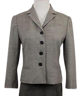 Ann Taylor Ann Taylor Womens Petites Gray Blazer Long Sleeve Wool Basic Jacket