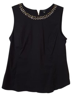 Ann Taylor Beaded Flattering Embellished Beaded Detailed Top Black