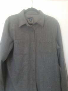 Ann Taylor Button Down Shirt Grey