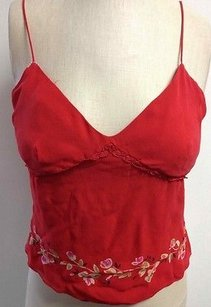 Ann Taylor Silk Lined Zip Top Red