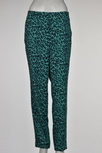Ann Taylor Womens Animal Print Casual Straight Leg Trousers Pants