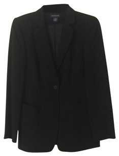 Ann Taylor Fully-lined Pockets Single-button black Blazer