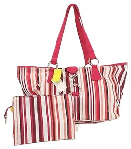 Ann Taylor LOFT Red White Tote in Multi-Color