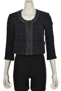 Ann Taylor LOFT Womens Navy Basic Tweed 34 Sleeve Cotton Coat Multi-Color Jacket