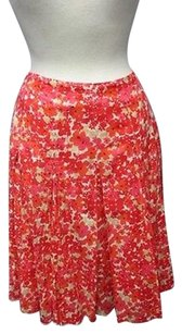 Ann Taylor Orange Skirt orange, dark pink, tan