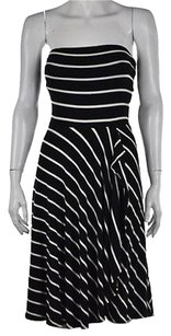 Ann Taylor Womens Black White Dress