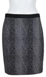 Ann Taylor Womens Skirt Black Gray