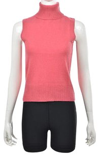 Ann Taylor Womens Turtleneck Cashmere Sleeveless Sweater