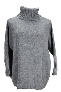 Annalee + Hope Womens Grey Wool Sweater