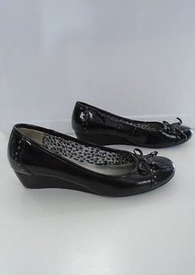 Anne Klein Sport Man Made Casual Round Toe Wedge Heel B3301 Black Platforms