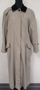 Anne Klein Ii Polyester Lined Long Button Down Full Length O321 Coat