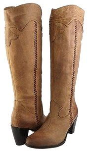 Anne Klein Johnston Murphy Noel Western Womens Designer Knee High Cognac Boots