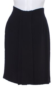 Anne Klein Pleated Wrap Straight Skirt Black