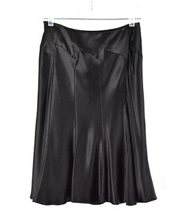 Anne Klein Silk Flared Skirt Black
