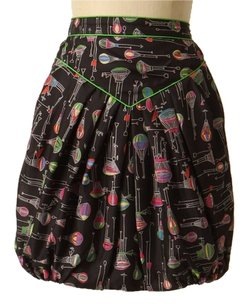 Anthropologie Anthro Anna Sui Mini Skirt black