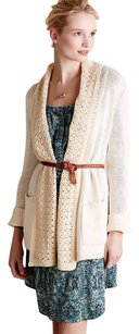 Anthropologie Cardigan Evenie Chenille beige Jacket