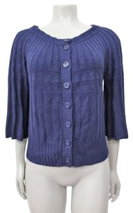 Anthropologie Moth Bell Sleeve Ribbed Knit Cardigan Sweater