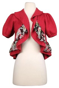 Anthropologie Knitted Amp Knotted Womens Floral Cardigan Wool Sweater