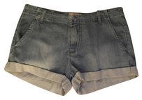 Anthropologie Cuffed Shorts Chambray