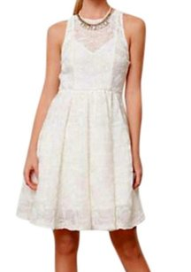 Anthropologie short dress NWT White Cut Out Back on Tradesy
