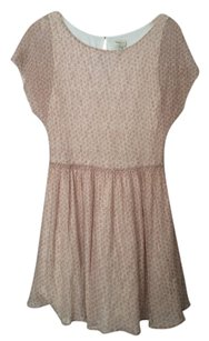Anthropologie short dress Light pink and creme Fit Flare Summer Feminine on Tradesy