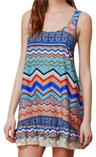 Anthropologie short dress Mult-color Hem Detailing Cheerful Print on Tradesy