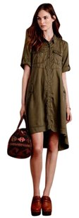 Anthropologie short dress Green High-low Hem on Tradesy