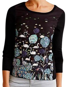 Anthropologie Incredibly Unique Top Black Motif