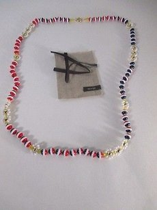 Anthropologie Lot Of Anthropologie Tri Color Crystal Bead Flower Knotted Necklace 59