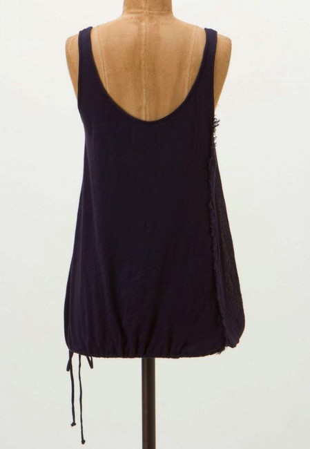 Anthropologie Scooped Back Easy Fit Blouson Shape Top NWT Navy