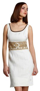 Anthropologie short dress Ivory Olive Lace Contrast on Tradesy