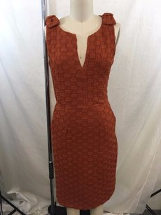Anthropologie short dress Rust Tabitha Woven Look on Tradesy