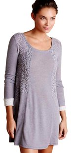 Anthropologie short dress Grey Sleep Shirt Soft Thermal on Tradesy