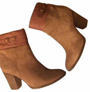 Anthropologie Suede Bootie Boot Camel Boots