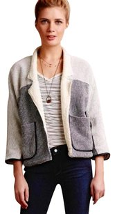 Anthropologie Super Soft! Ultimate Comfort Faux Leather Trim Cardigan