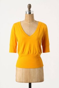 Anthropologie Soft Bands V Neck Tee Shirt By Pilcro And The Letterpress Top Golden
