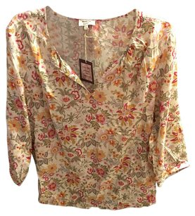 Anthropologie Top Multi Pink