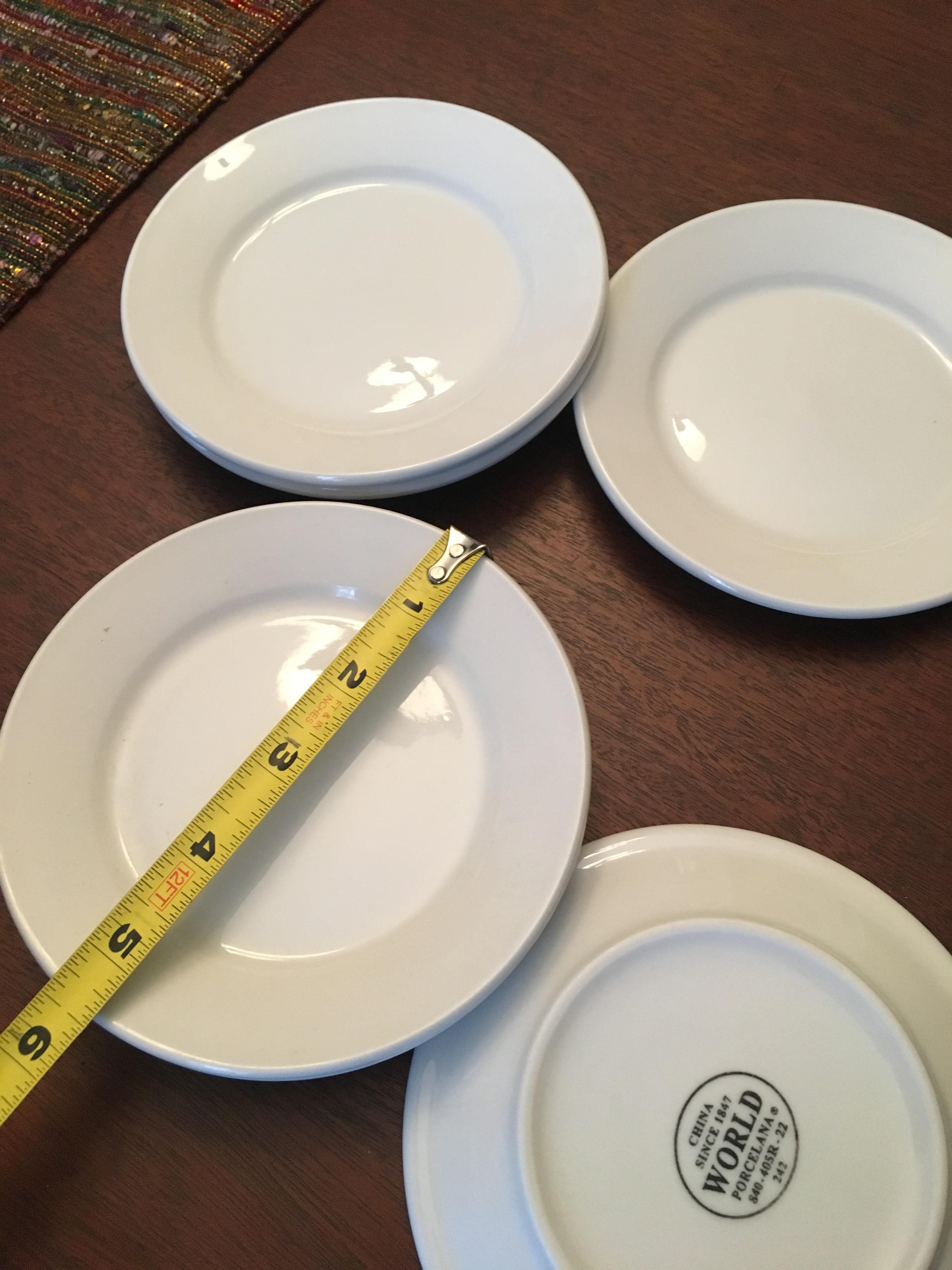 Anthropologie White New Set Of 6 Dinner Plates Casual China ... : casual dinner plates - pezcame.com