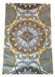 Anthropologie Wool Embroidered Colored Blossoms Rug