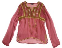 Antik Batik Raspberry Sheer Lk Top