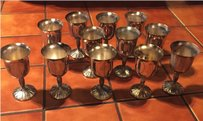 Antique Solid Silver Goblets