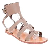 A.P.C. Apc Madras Gray Brown Taupe Leather Sandals