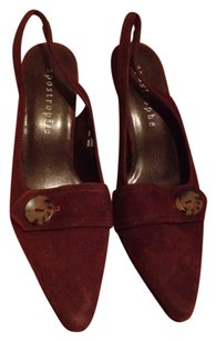 Apostrophe Brown Suede Pumps