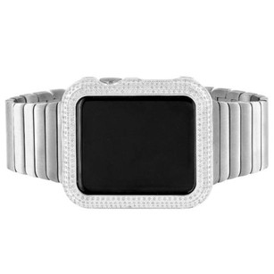 Apple Apple Watch Mens Real Diamonds 1.50 Ct Custom 42mm Ios Touch Screen