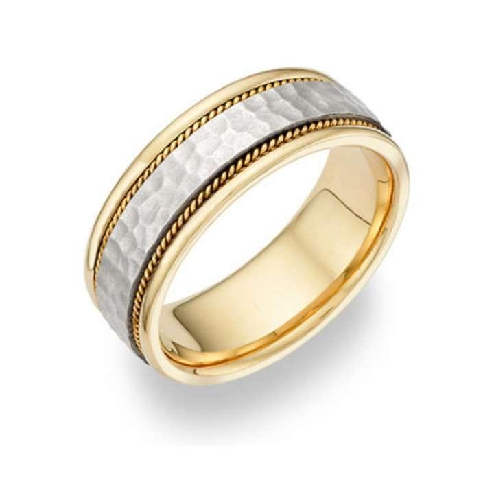 Apples Of Gold Caer Celtic Knot Wedding Band 14k Two Tone