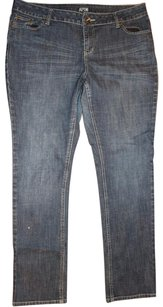Apt. 9 Straight Leg Distressed Skinny Jeans-Medium Wash