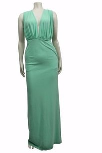 Green Maxi Dress by Aqua Aqaq Curtis Maxi Duck