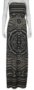 Arden B. Womens Printed Casual Full Length Strapless Dress